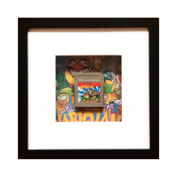 Wario Land Japanese Game Boy Cart Framed Wall Art- Fathers Day Gift Present