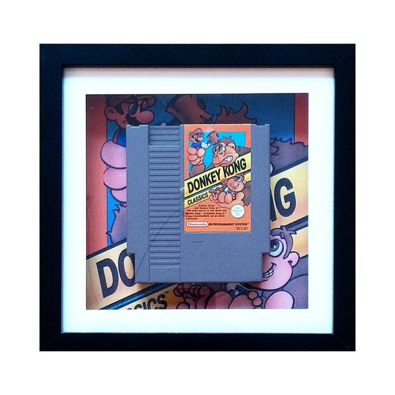 Donkey Kong NES Game Cart Framed Wall Art- Fathers Day Gift Present