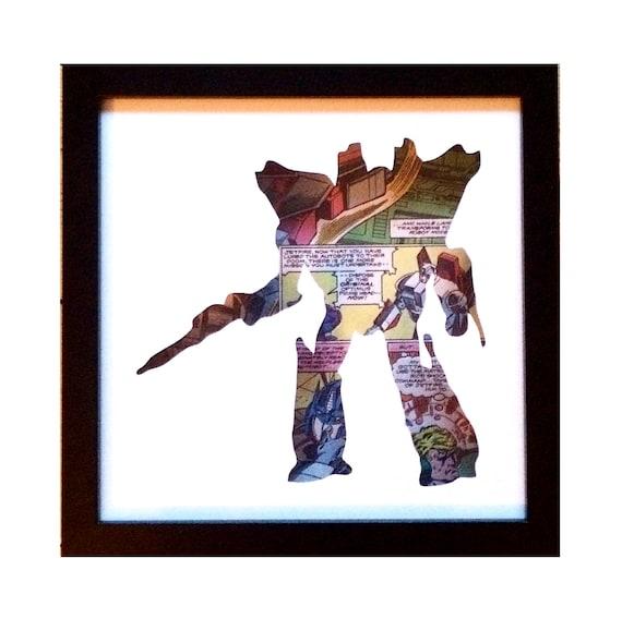 Jetfire Silhouette Wall Art - Transformers Decepticons
