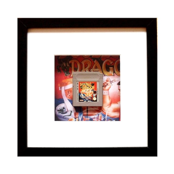 Double Dragon Gameboy Game Cart Framed Wall Art- Fathers Day Gift Present