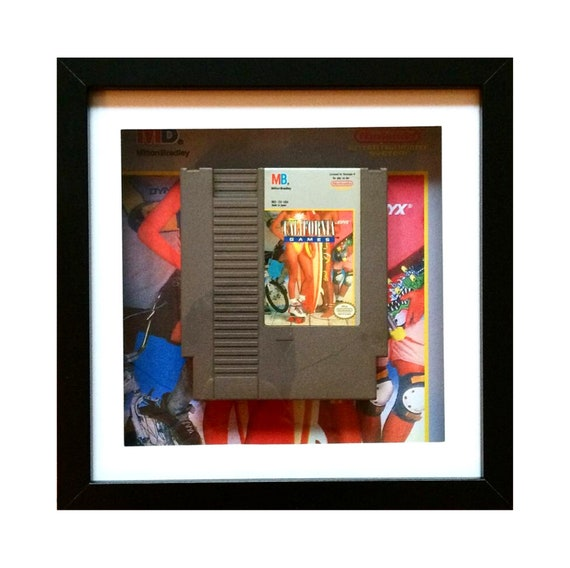 California Games NTSC NES Game Cart Framed Wall Art- Fathers Day Gift Present