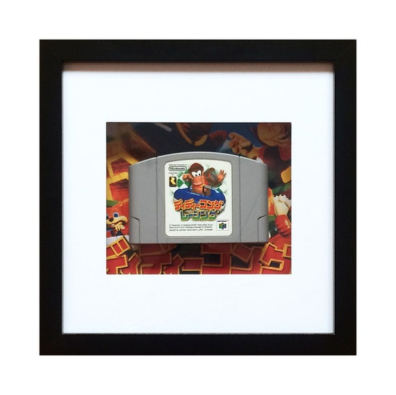 Diddy Kong Racing Japanese N64 Game Cart Framed Wall Art- Fathers Day Gift Present