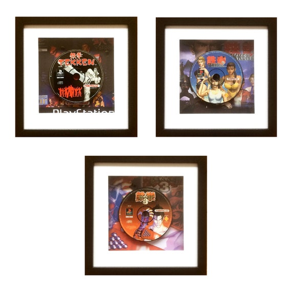 Tekken PAL 1, 2 & 3 Playstation Game Wall Art Set