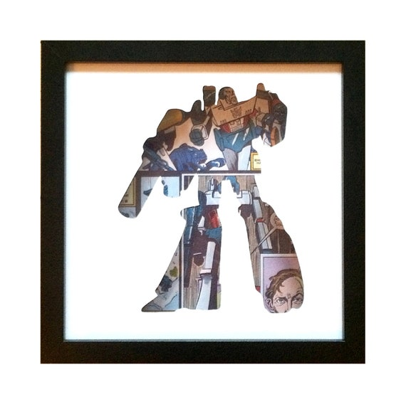 Megatron Silhouette Wall Art - Transformers Decepticons