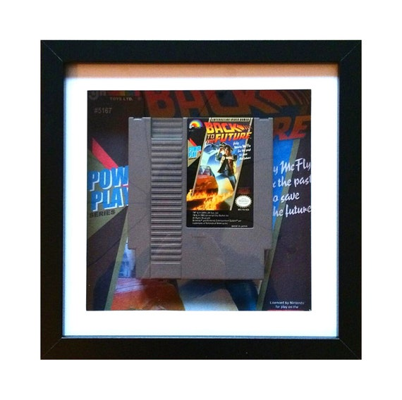 Back to the Future NES Game Cart Framed Wall Art- Fathers Day Gift Present
