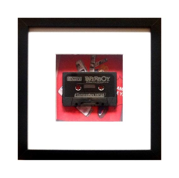 Paperboy Game C64 Cassette Framed Wall Art