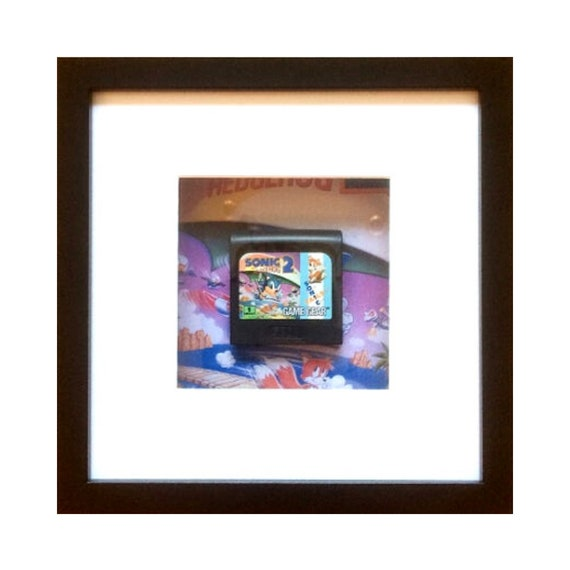 Sonic the Hedgehog 2 Game Gear Cart Framed Wall Art