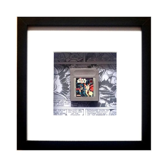 Star Wars Gameboy Game Cart Framed Wall Art- Fathers Day Gift Present