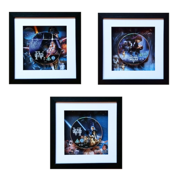 Star Wars Trilogy - New Hope, Empire Strikes Back & Return of the Jedi DVD Wall Art Set