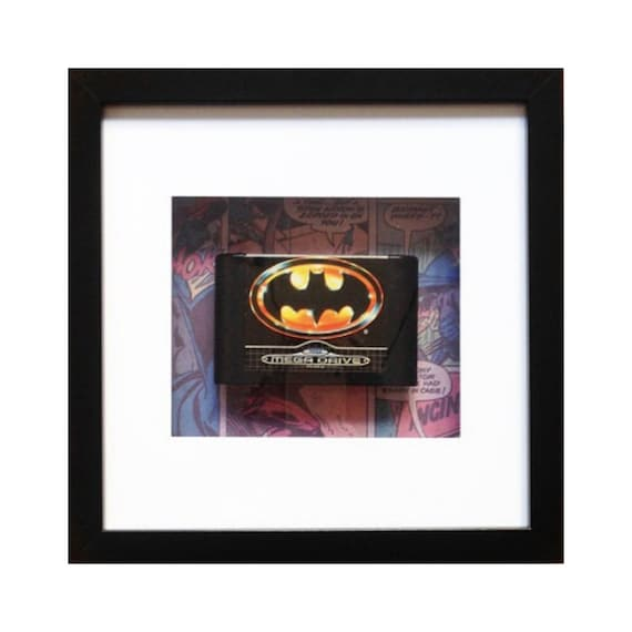 Batman Megadrive Game Framed Wall Art- Fathers Day Gift Present