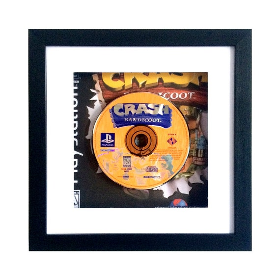 Crash Bandicoot USA Playstation Game Framed Wall Art - PS1