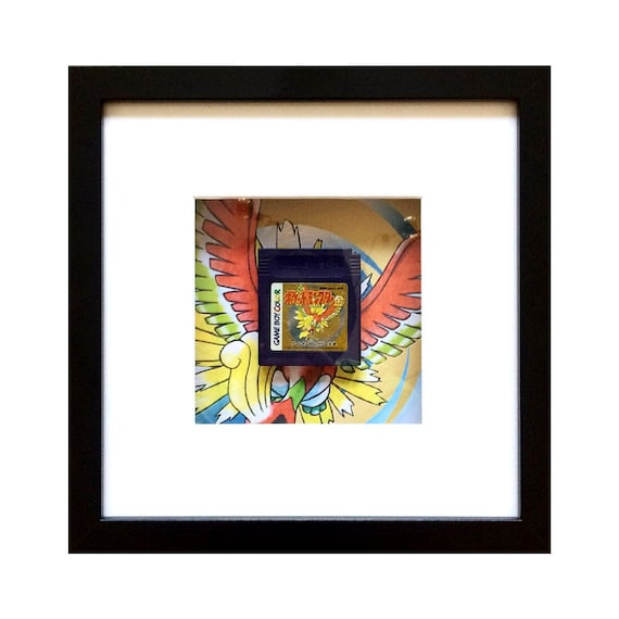 Japanese Pokemon Pocket Monsters Gold Game Boy Colour Cart Framed Wall Art- Fathers Day Gift Present