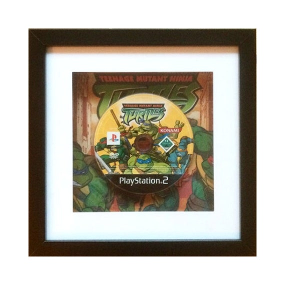Teenage Mutant Ninja Turtles Playstation 2 Game Framed Wall Art- Fathers Day Gift Present
