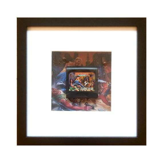 Streets of Rage Game Gear Cart Framed Wall Art