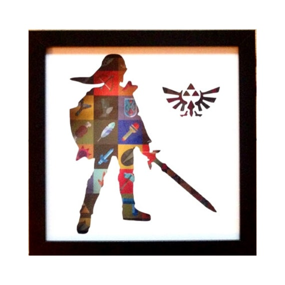 Zelda Silhouette Wall Art - The legend of Zelda- Fathers Day Gift Present