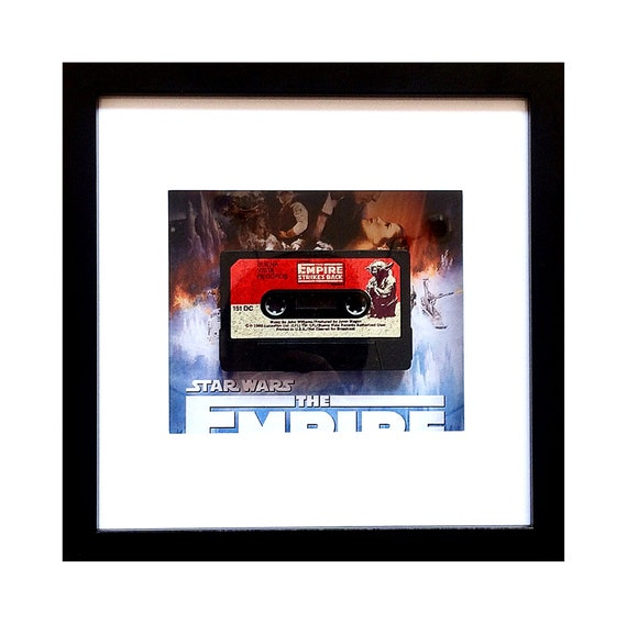 Empire Strikes Back - Star Wars Story Book Cassette Framed Wall Art- Fathers Day Gift Present