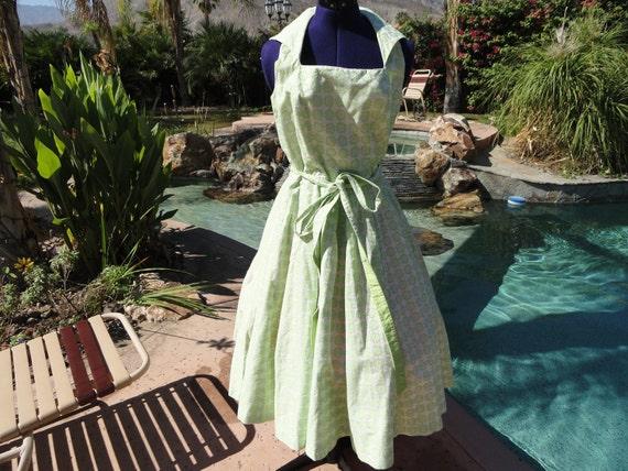 Vintage 1950s 50s dress sundress fitted full rare