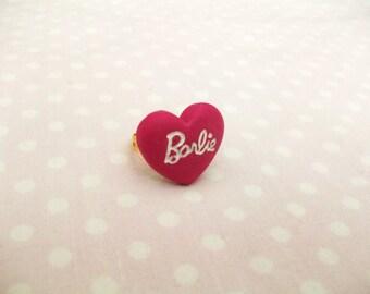Ring Barbie heart, inscription, kawaii, lolita