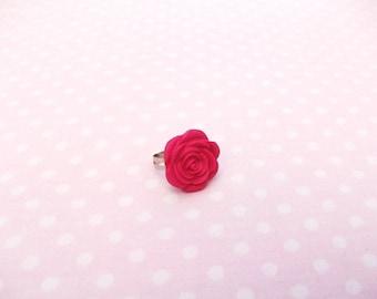 Ring flower pink, girly, pink, lolita