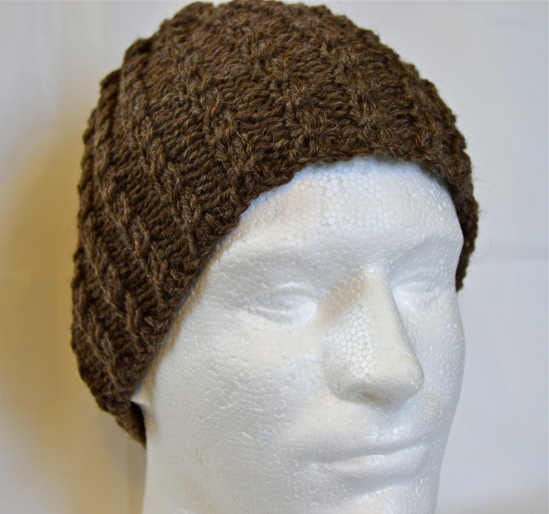 cable knit beanie charcoal gray knit hat tweed knit hat hand knit toque Black hand knit hat brown hand knit hat