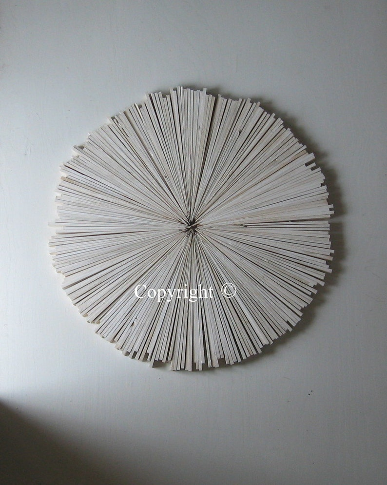 White Abstract Painting On Wood Rustic Wall Decor White Cottage Round Art Trending Designs