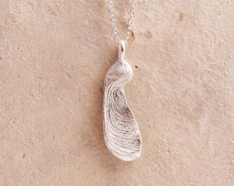 Silver Maple Seed Necklace