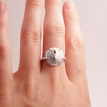 Silver Sand Dollar Ring