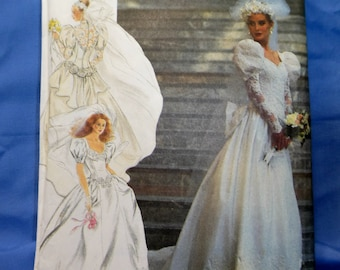 Simplicity 7429 Sewing Pattern, Bridal Formal Dress Gown, Size D5 4-12