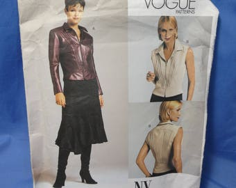 Vogue 2704 Flared Skirt, Fitted Top Sewing Pattern, 14- 16 - 18, uncut