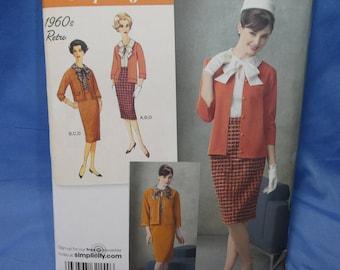 Simplicity 2154, 1960's Retro Blouse, Skirt, Jacket, Cardigan, Sewing Pattern, 16 - 24, uncut