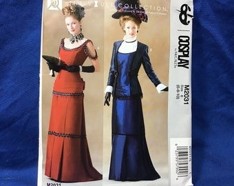 Victorian Sewing Patterns- Dress, Blouse, Hat, Coat, Mens McCalls Cosplay Sewing Pattern 2031 $8.95 AT vintagedancer.com