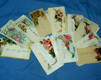 32 Vintage Victorian Business Calling Cards, CC8