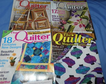 The Quilter Magazine 2001, 2007, 2009, 2010, 4 issues With Patterns