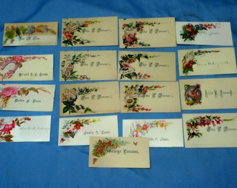 17 Vintage Victorian Business Calling Cards, CC5