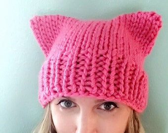Pussyhat | Bulky Soft Yarn | Women's Rights Pink Pussy Hat
