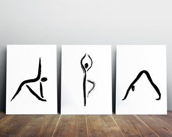 Yoga wall decor | Etsy
