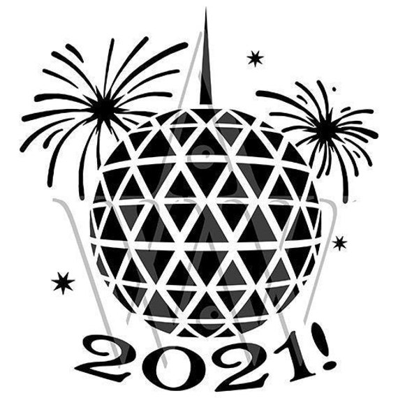 2021 New Years Eve Ball Svg Fireworks Dxf 2020 New Years Cut | Etsy