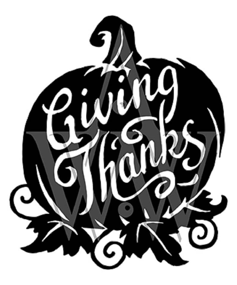 Giving Thanks Pumpkin Svg Thanksgiving Dxf Cut File Eps Clip