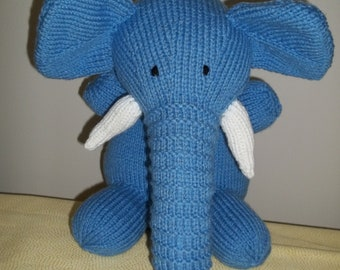 Knitted Blue Elephant