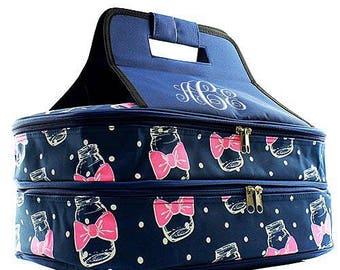 Personalized Casserole Carrier, Double Insulated Casserole Carrier, Embroidered Casserole Tote, Casserole Bag, Mason Jars