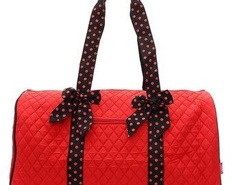 Monogrammed Duffel Red Black Duffel Personalized Duffel Bag Tween Gift Gym Bag Luggage Dance Bag Carry on Bag Overnight Bag