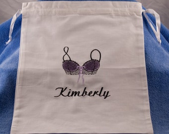 Monogrammed Lingerie Bag - Personalized Lingerie Bag - Bridal Shower Gift - Bridesmaids Gift - Travel Bag - Underwear Bag - Clean Dirty Bag