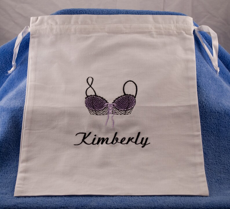 Monogrammed Lingerie Bag Personalized with Name Perfect Bridal Shower Gift or Bridesmaids Gifts