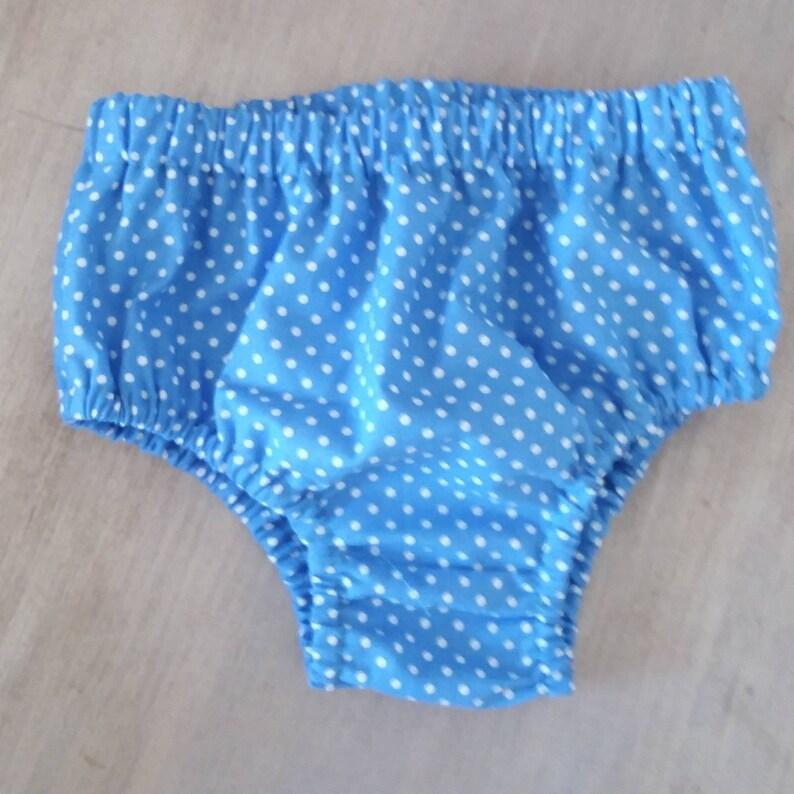 Newborn Blue Dot Dress With Matching Panties