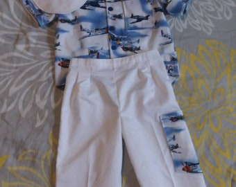 Size 3 Fighter Planes Shirt, Pants And Hat