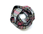 Plaid Infinity Scarf, Toddler Scarf, Girl Scarf, Boy Scarf, Holiday Photo Prop, Top Selling Items, Ready to Ship