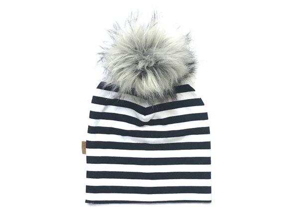 c16c4c09916 Slouchy Beanie Pom Pom Hat Infant Baby Toddler Kids Hat Unisex