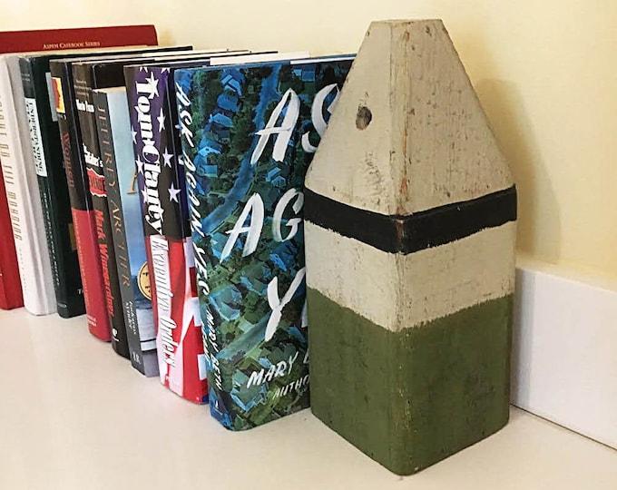 "Book shelf holder 11"" Lobster Buoy Black Olive, Coastal Decor by SEASTYLE"