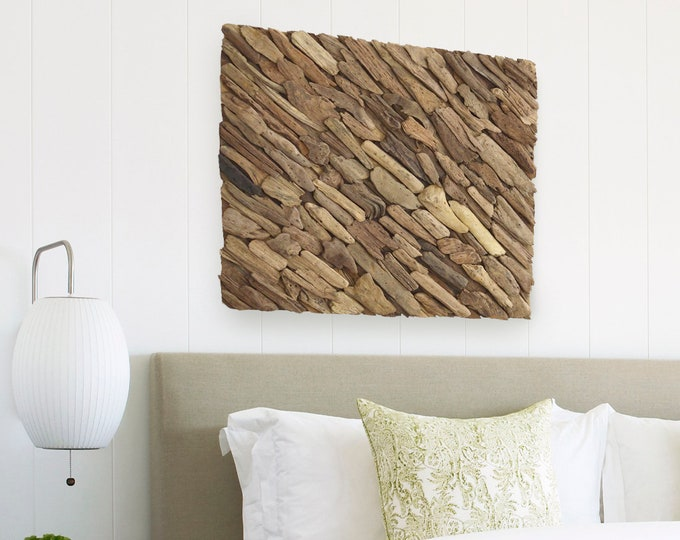 "Beach Décor Driftwood Wall Art 20x24""  by SEASTYLE"