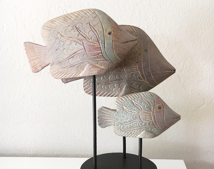 Fish Family School Fish Driftwood Fish Beach Décor  by SEASTYLE